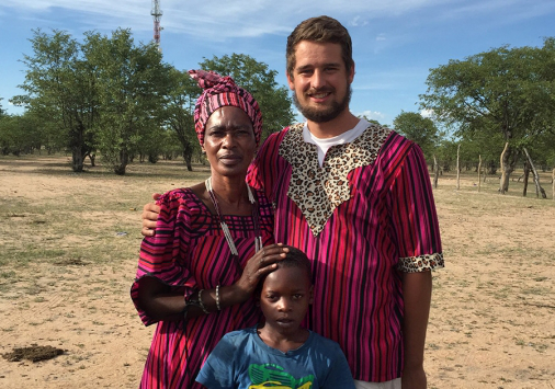Wehman '17 in Namibia in 2016