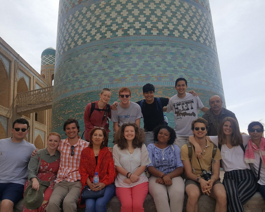 Denison Summer Seminar students in Central Asia